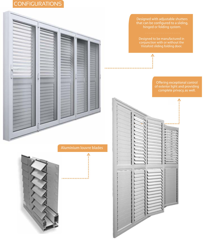 Horizan ajustable louvres sun screen advance fenestration suppliers and installers of for Exterior window shutters south africa