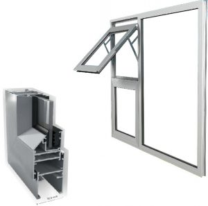 advance fenestration, crealco casement 30.5 aluminium windows product image